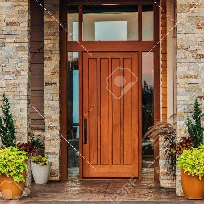 Dark wooden modern door fabricators - HS Trade